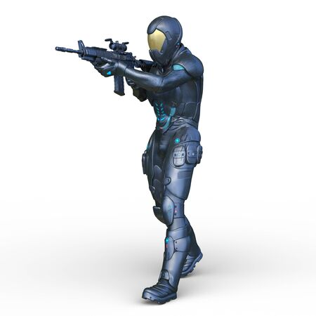 3D CG rendering of cyber man