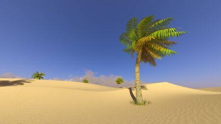 3D CG rendering of desert
