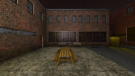 3D CG rendering of Alley back