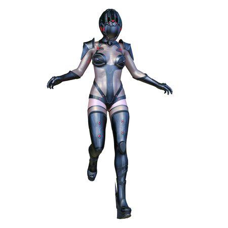 3D CG rendering of heroine Banco de Imagens