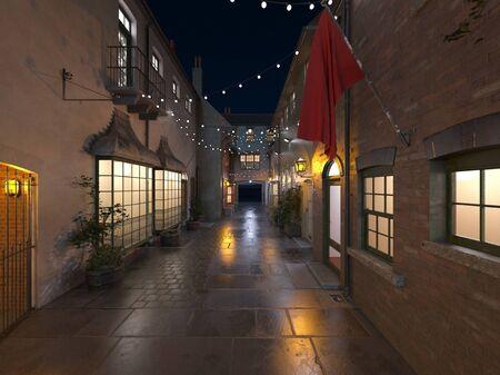 3D CG rendering of tourist destination