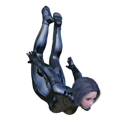 3D CG rendering of heroine Zdjęcie Seryjne
