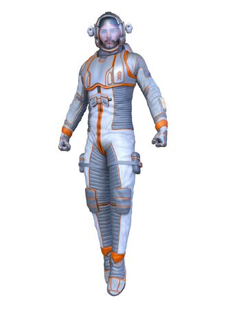 3D CG rendering of astronaut