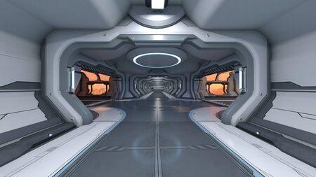 3D CG rendering of building hallway Zdjęcie Seryjne