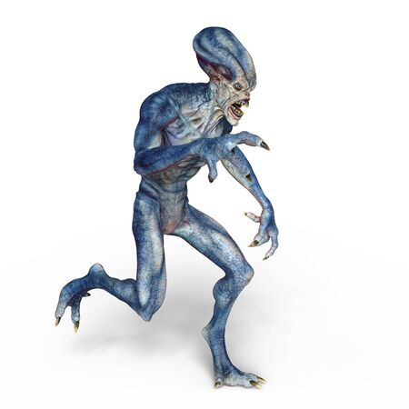 3D CG rendering of alien