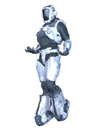 3D CG rendering of robot Banco de Imagens
