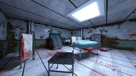 3D CG rendering of Horror Hospital Zdjęcie Seryjne