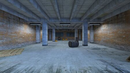3D CG rendering of Underground Passage Zdjęcie Seryjne
