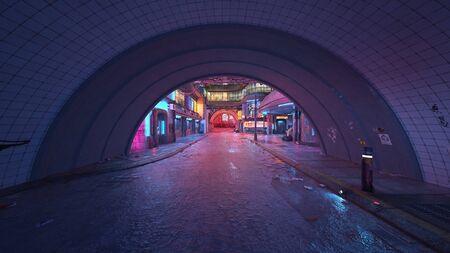 3D CG rendering of City Zdjęcie Seryjne