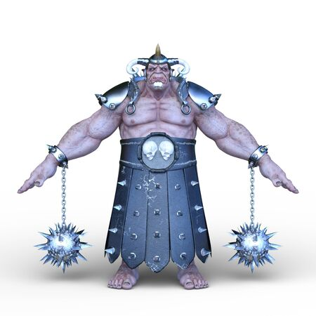 3D rendering of strong man