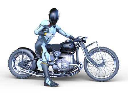 3D rendering of speeder bike
