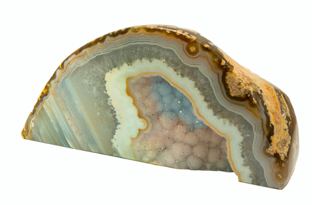 chalcedony: Agate Geode Stock Photo