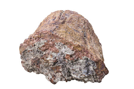 magnetite: An isolated sample of the mineral rock