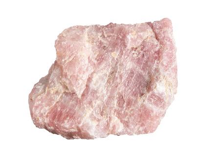 rose quartz: An isolated sample of rose quartz