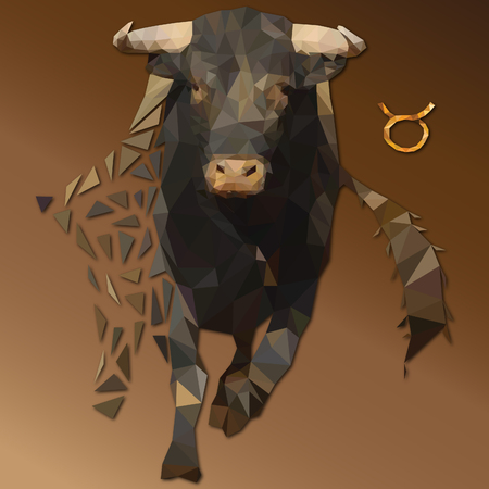 Taurus low poly zodiac sign