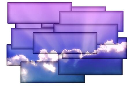 雲から覗いて太陽光線のユニークなフレーミング