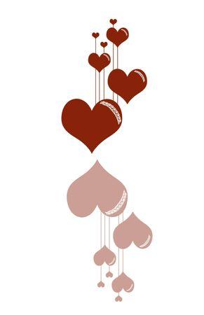 Reflective heart illustration