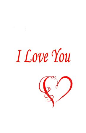 I love you with heart illustration