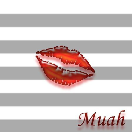 luscious: Luscious red lips great for backgrounds Stock Photo
