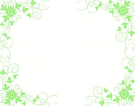 the design: A floral design isolated on a white background with plenty of copy space