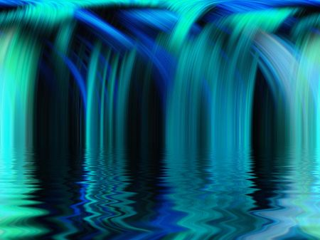 A blue waterfall abstract design photo