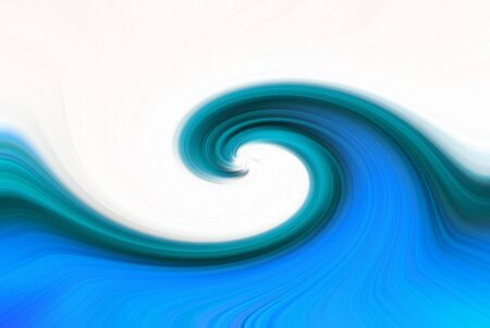 blue green background: A blue ocean wave type abstract design Stock Photo