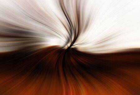 A beautiful brownorange swirl abstract design