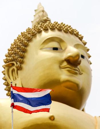 frag: thailand frag with golden bhuda face background