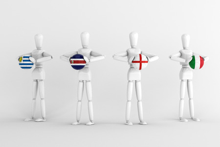 3d model render isolate group d world cup photo