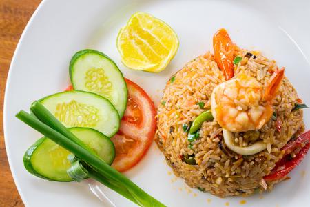 arroz: Camarones arroz frito Foto de archivo