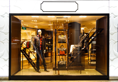 window display: Boutique mannequin display window Editorial