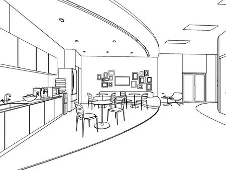 Grundriss Skizze Zeichnung Eines Innenraums Photo