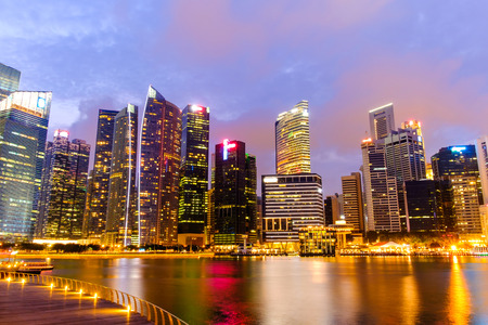 Singapore Skyline and view of Marina Bay 新聞圖片