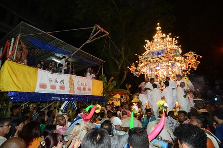 GEORGETOWN, PENANGMALAYSIA – CIRCA JAN 2016: Hindu devotees offering during Thaipusam Festival.