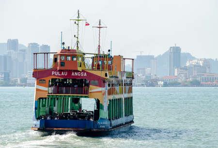 Georgetown, Penang/Malaysia - Feb 27 2020: Penang ferry at sea.