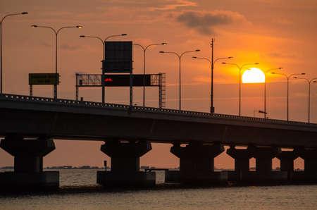 Batu Kawan, PenangMalaysia - Dec 29 2019: Penang second Bridge symbol at signboard. Editorial