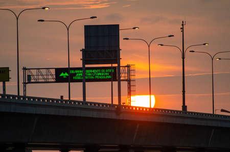 Batu Kawan, PenangMalaysia - Dec 29 2019: Signboard ask the driver not to stop the vehicle at Penang Second Bridge for the purpose of safety.