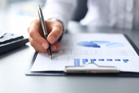financial graph: Stock market graphs monitoring
