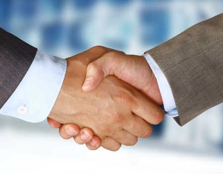 shake hand: Closeup of a business hand shake between two colleagues