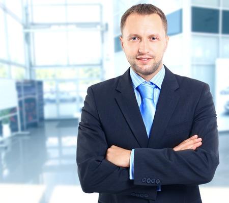 man face: Portret van een zakenman