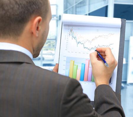 stock market chart: Stock market graphs monitoring