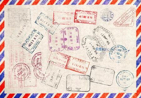 Immigration stamp. Passport Stamps  photo