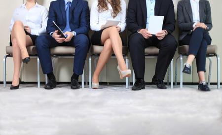 Personnes stressantes d'attente pour entretien d'embauche Banque d'images - 40190956