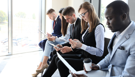 Business people waiting for job interview Imagens - 59895257
