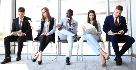 Business people waiting for job interview Imagens - 59895261