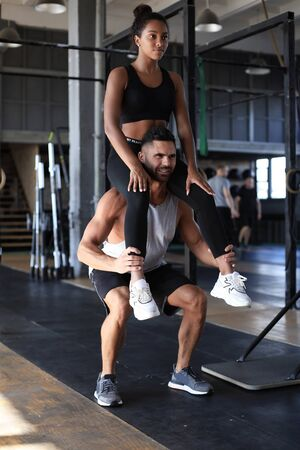 Young fit couple are in a good shape Stock Photo