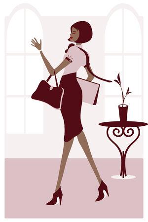 going: Stylish Business Woman
