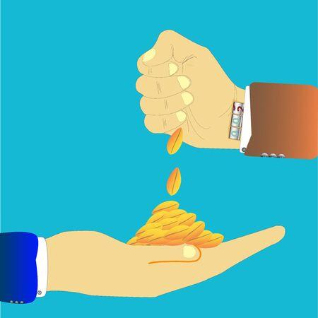 hand grain wheat blue black bissines yellow