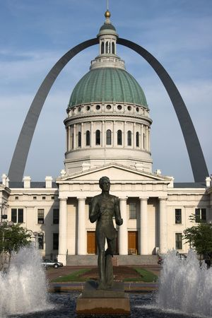 St Louis, old courthouse and gateway arch