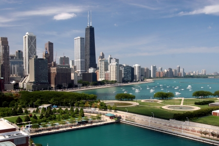Chicago downtown seen from Navy Pier Stock Photo - 1282301